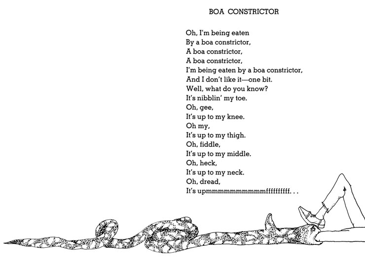 Shel Silverstein Famous Poems: Horrific Images And Concepts In Kids' Fiction